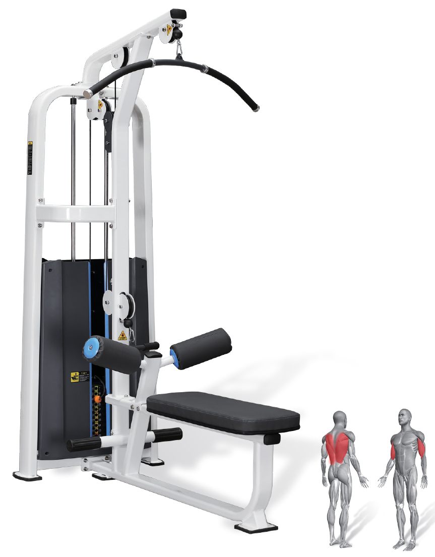 Máy kéo xô cao / High lat pulldown and low row AMP Standard 1020